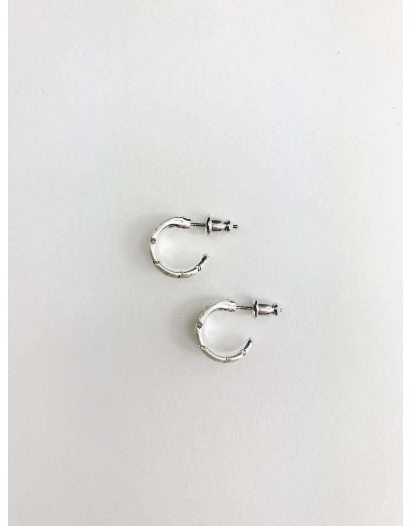 Lauren - Silver Plated Feather Earrings