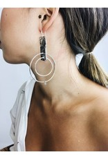 Julia - Silver Plated Statement Earrings