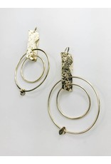 Julia - Gold Plated Statement Earrings