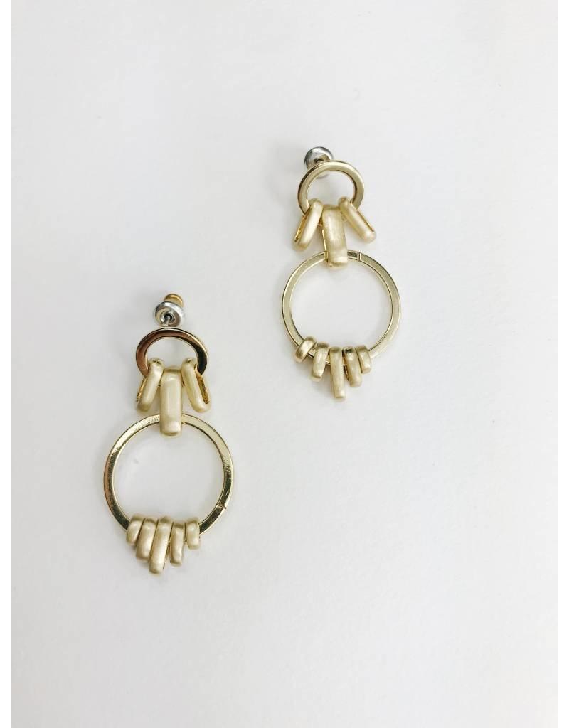 Aviva -Boucles d'oreilles plaqué or