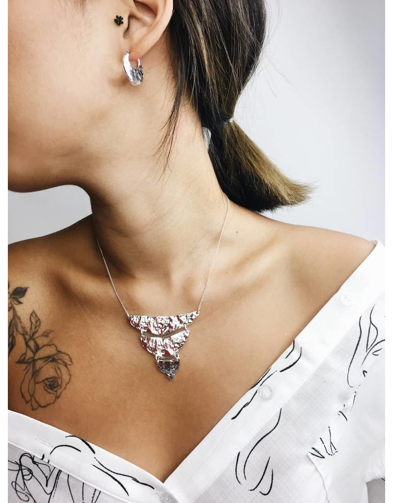 Marley - Collier à pendentif plaqué argent