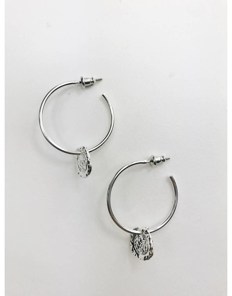Marley - Silver Plated Medallion Earrings