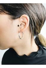 Layla - Silver Plated Hoop Earrings - Small