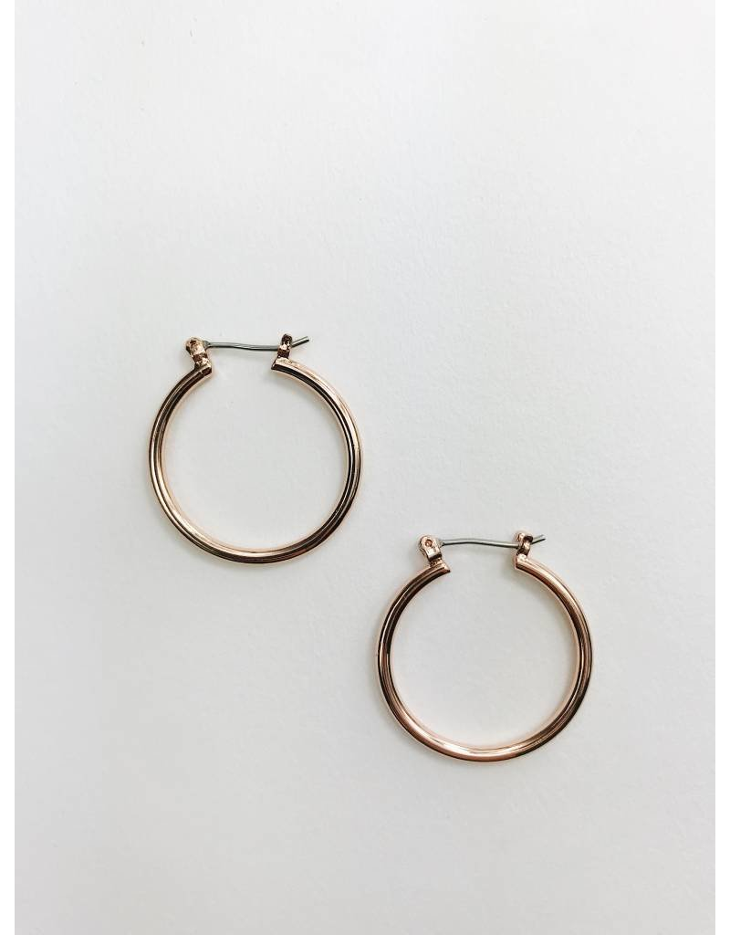 Layla - Rose Gold Plated Hoop Earrings - Small