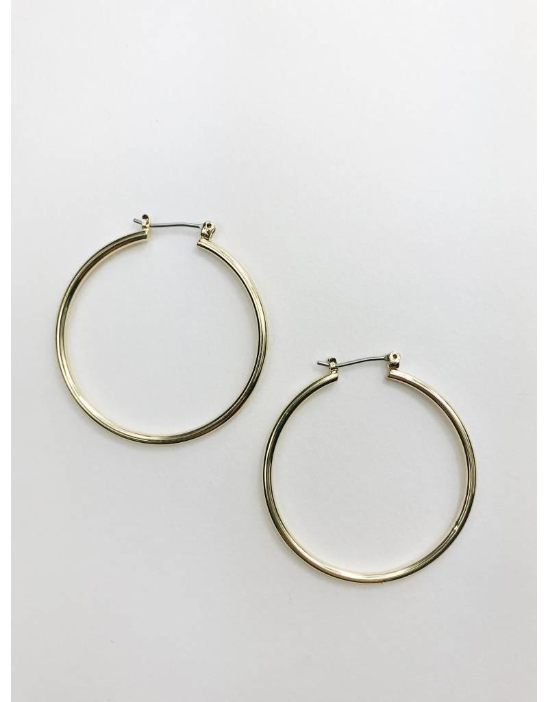 Layla - Gold Plated Hoop Earrings - Big
