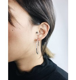 Layla - Silver Plated Hoop Earrings - Big