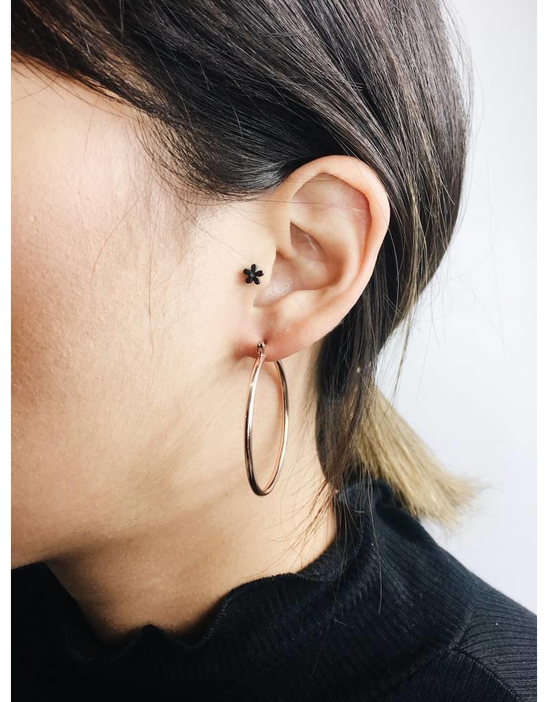 Layla - Boucles d'oreilles plaqué or rose - Large