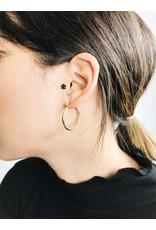 Layla - Boucles d'oreilles plaqué or  - petit