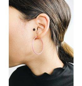 Misty - Silver Plated Earrings with Pink Enamel