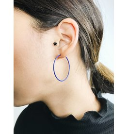 Misty - Silver Plated Earrings with Blue Enamel