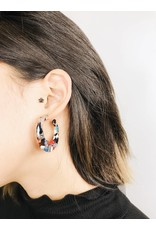 Delia - Multicolour Tortoise Earrings
