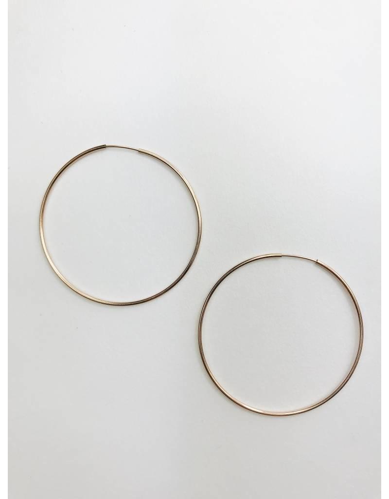 Sanne - Boucles d'oreilles plaqué or rose