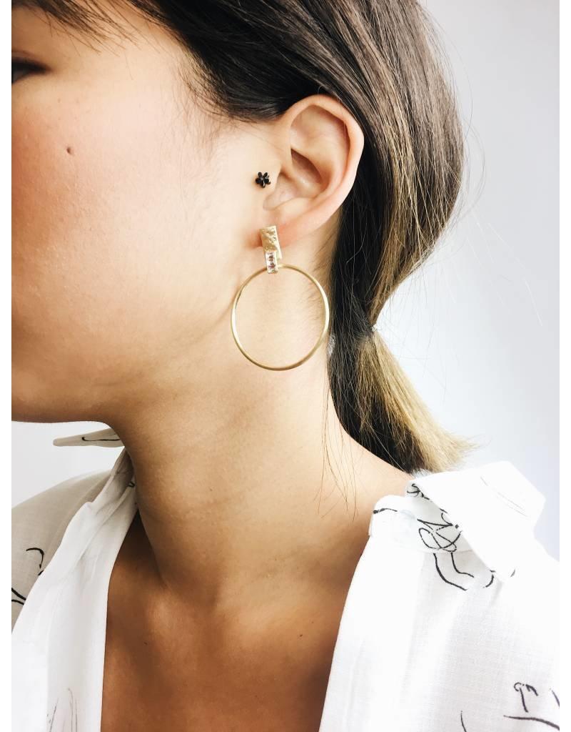Crystal - Boucles d'oreilles plaqué or