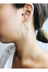 Becky - Silver Plated Earrings