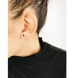 Virginia - Boucles d'oreilles plaqué or rose