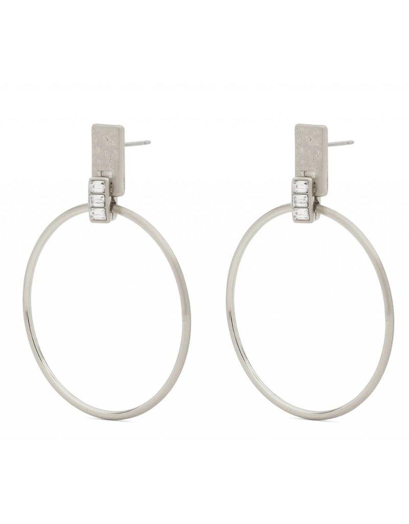 Crystal - Silver Plated Earrings