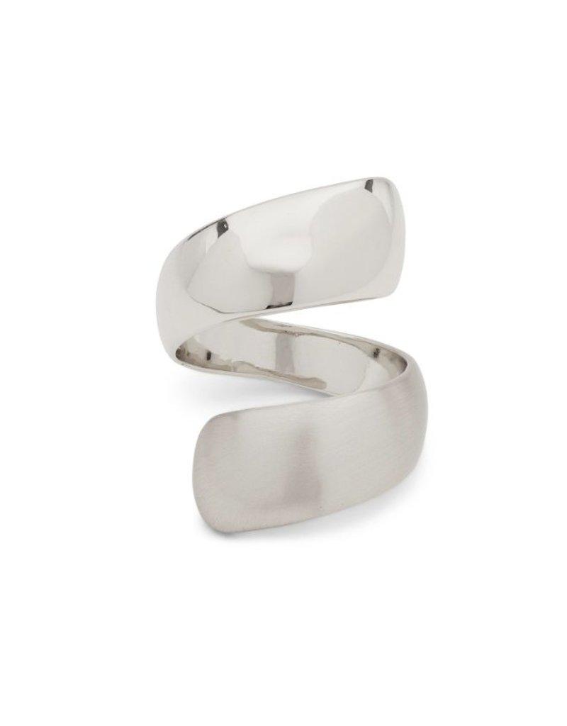 Karen - Silver Plated Adjustable Ring