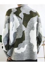 Pull surdimensionné en maille  à motif camouflage