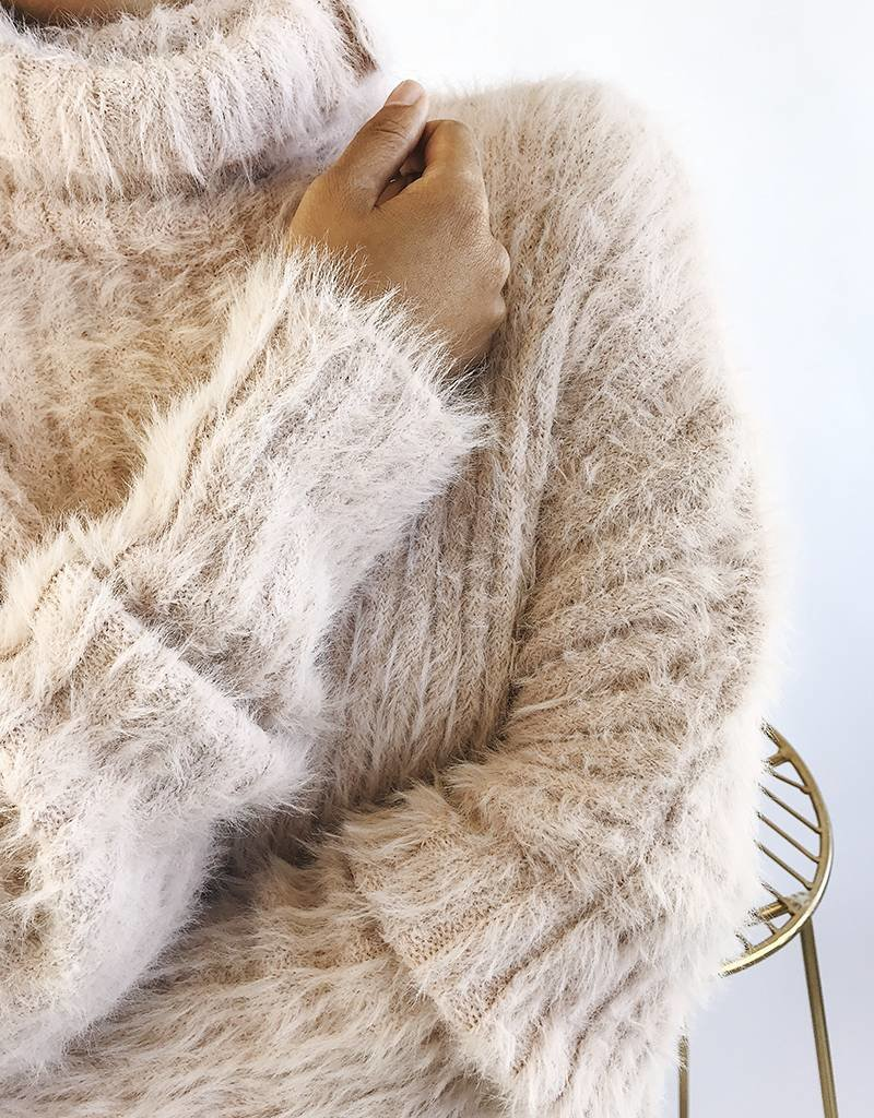 Oversized Turtleneck Sweater Super Soft & Fuzzy