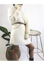 Mid-Length Turtleneck Dress Super Soft & Fuzzy