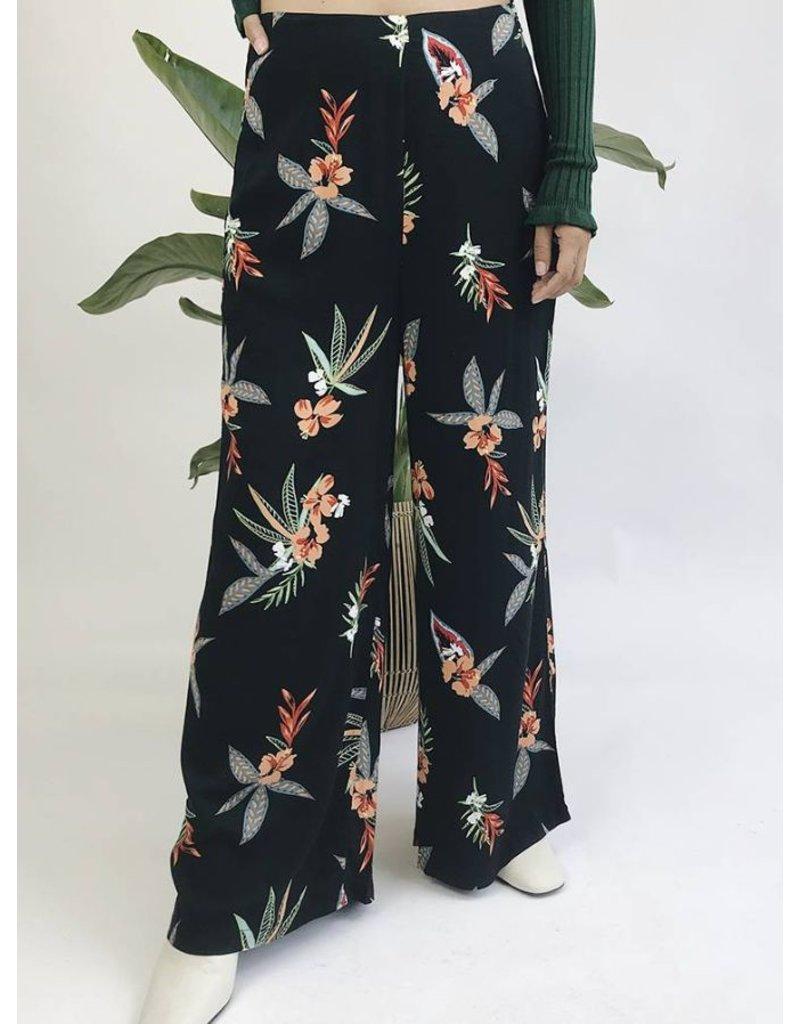 Pantalon léger imprimé floral