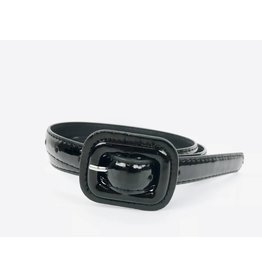 Slim Patent Finish Belt - Black