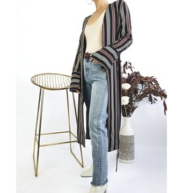 Striped Kimono  with Belt