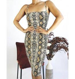 Bodycon Snake Print Dress