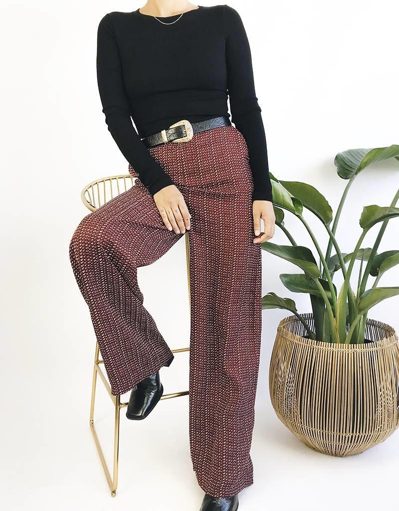Pantalon taille haute jambe droite