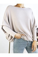 Oversized Sweater with Bat Sleeves
