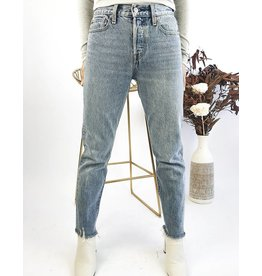 LEVI'S - High Waisted Straight Leg Jeans