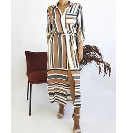 Long Shirt Dress with Rope Belt