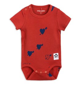 Mini Rodini mini rodini- Hearts Rib SS Body