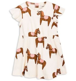 Mini Rodini mini rodini- Horse Flutter Sleeve Dress