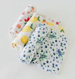Little Unicorn Little Unicorn - 3 Pack Cotton Swaddle - Berry Lemonade