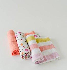 Little Unicorn Little Unicorn - 3 Pack Cotton Swaddle - Cabana Stripe Set