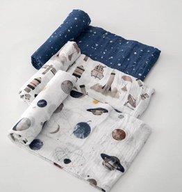 Little Unicorn Little Unicorn - 3 Pack Cotton Swaddle - Ground Control