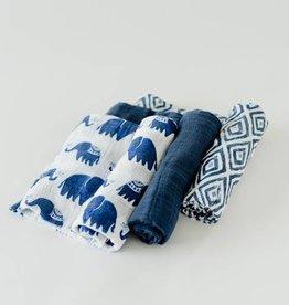 Little Unicorn Little Unicorn - 3 Pack Cotton Swaddle - Indie Elephant Set