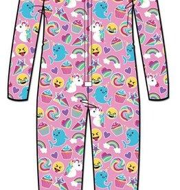 Candy Pink Candy Pink Emoji Fleece Onesie