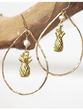 HI ASHLEY MALIA Pineapple Hoop Earring