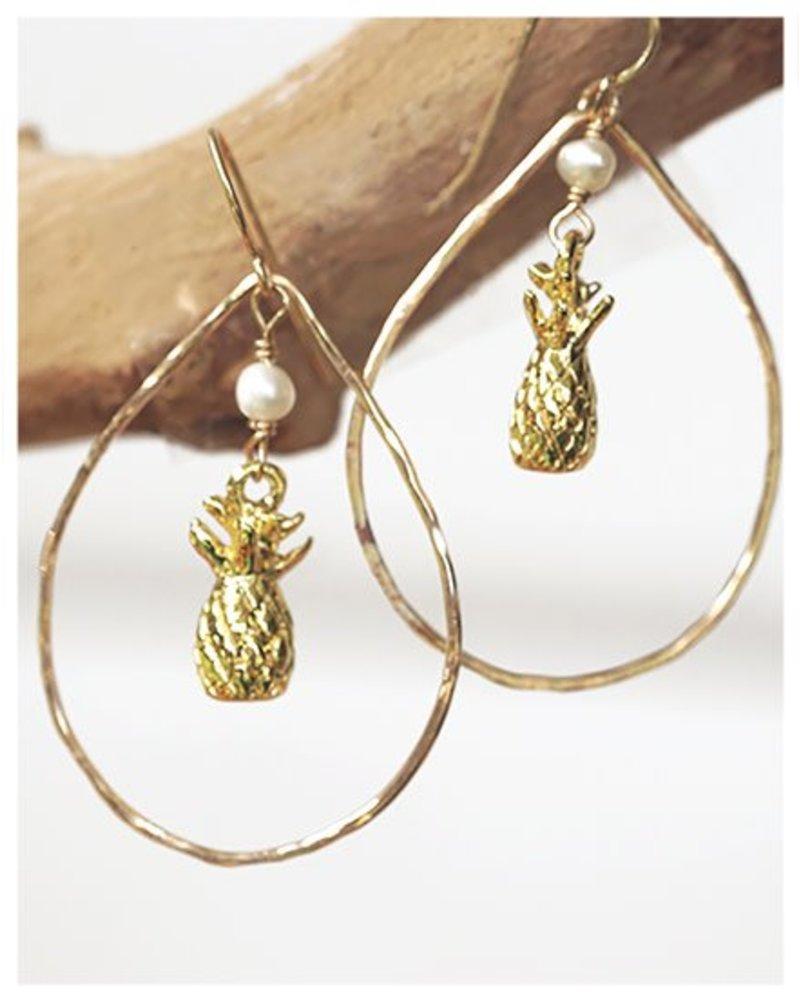 HI ASHLEY MALIA Pineapple Hoop Earring