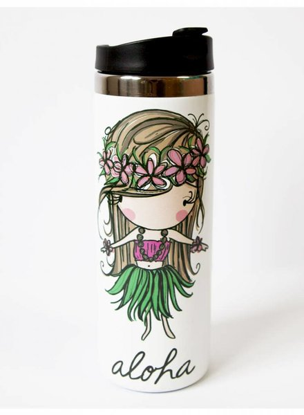 In House LP TRAVEL MUG Aloha Hula Girl