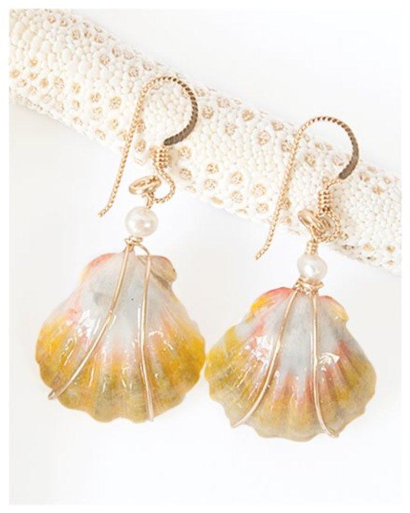 HI ASHLEY MALIA Malia Sunrise Shell Earrings