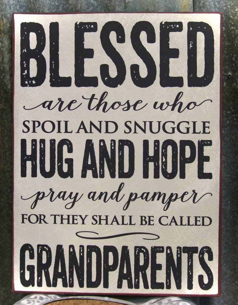 SIGN BLESSED ARE THOSE...GRANDPARENTS