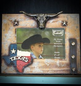 WESTERN MOMENTS Frame Wooden Texas State