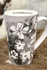 FLORAL NOIR MUGS (YOU ARE BEAUTIFUL)