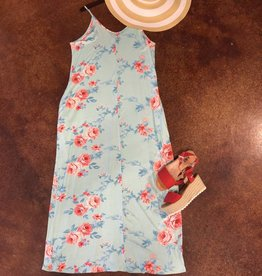 FLORAL PRINT BOHO DRESS MAXI ONE SIZE