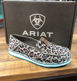 ARIAT WMNS CRUISER CHEETAH TURQ LOAFER SLIP-ON