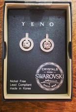 EARRING YENO SWAROVSKI CRYSTAL POST