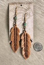 EARRING LEATHER FEATHER J. FORKS